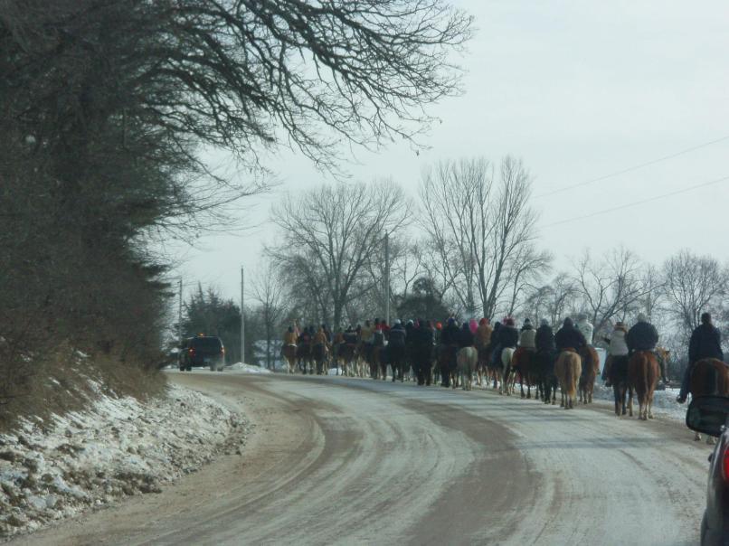 Riding towards Mankato in the Minnesota River Valley